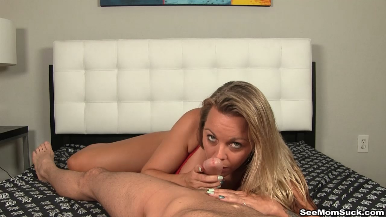 See Mom Suck - Amber Bach Blows It