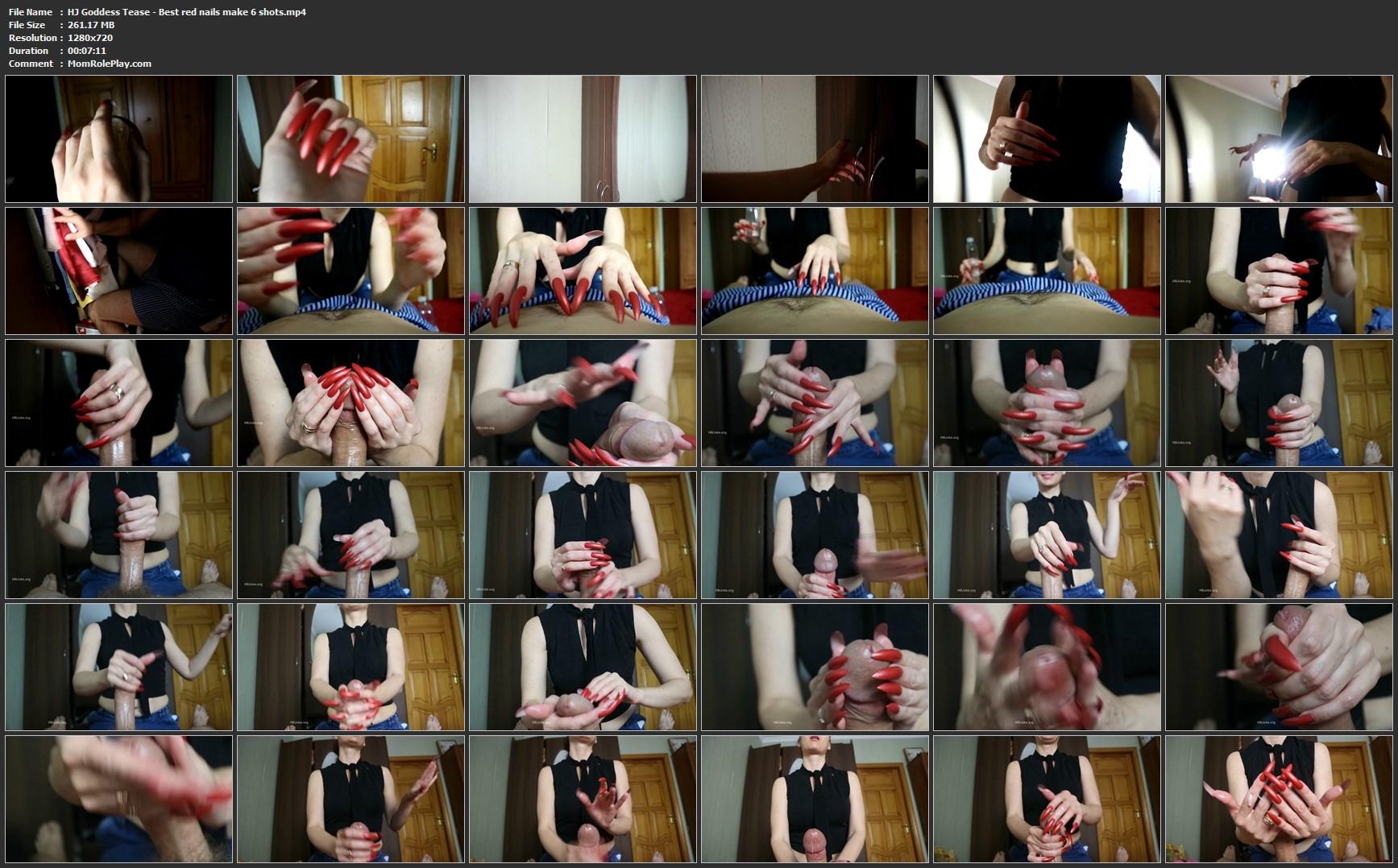 HJ Goddess Tease - Best red nails make 6 shots