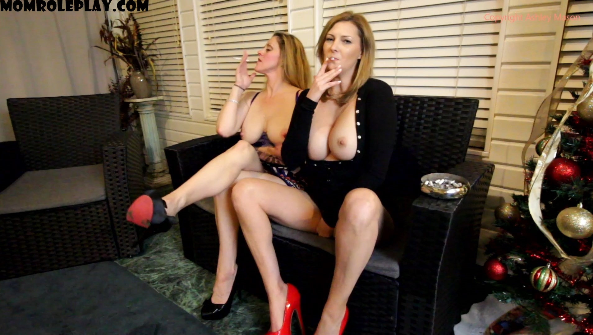 Ashley Masons Play House - Mommy and Auntie Creampie And Facials 1080p