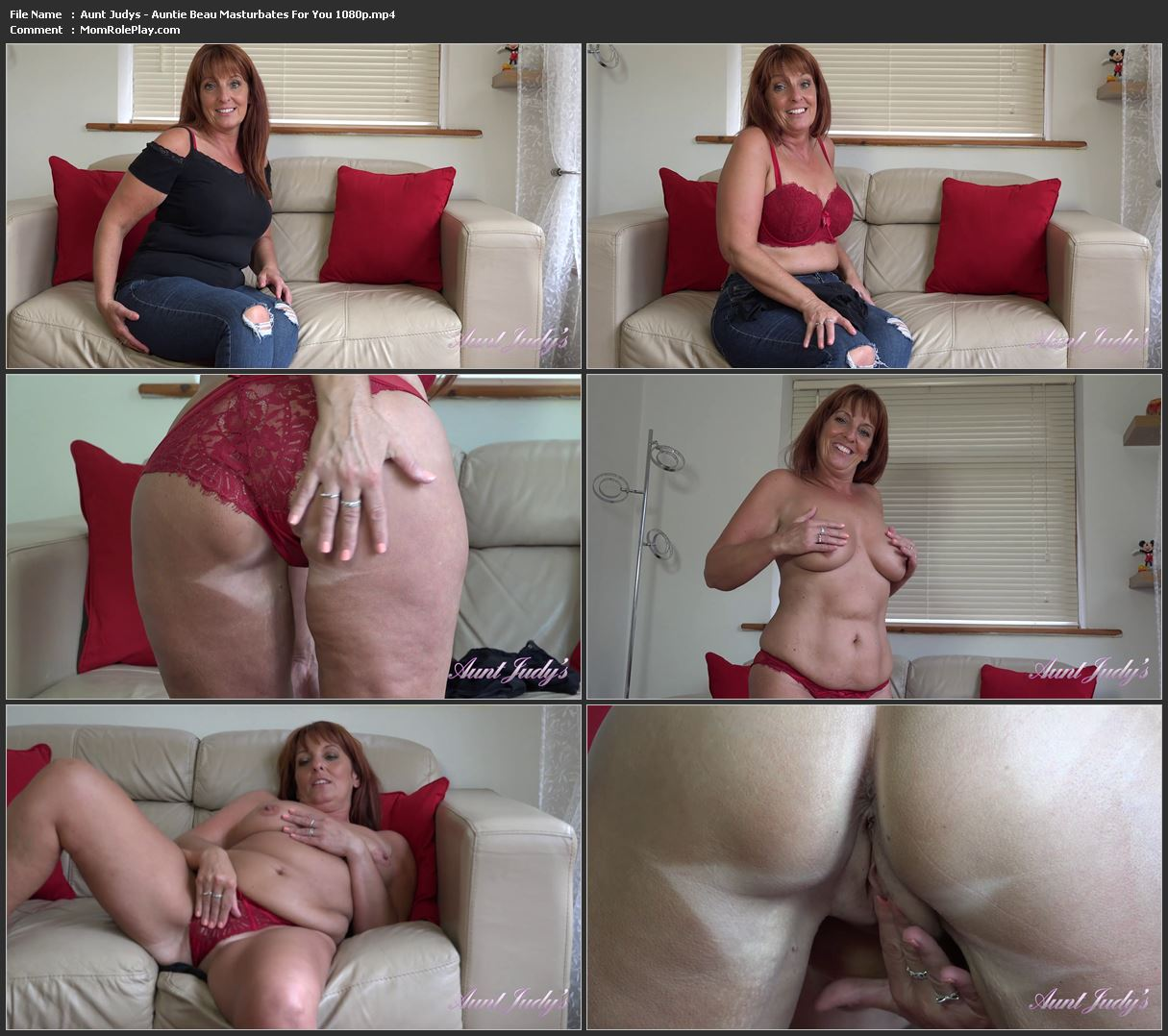 Aunt Judys - Auntie Beau Masturbates For You 1080p