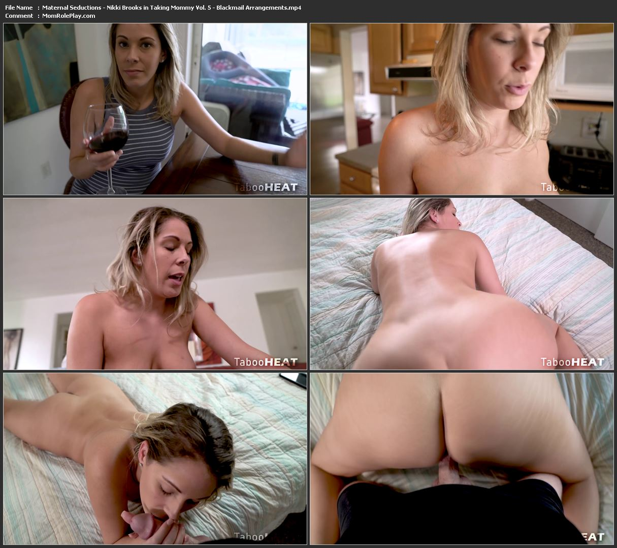 Maternal Seductions - Nikki Brooks in Taking Mommy Vol. 5 - Blackmail Arrangements (HD-1080p)