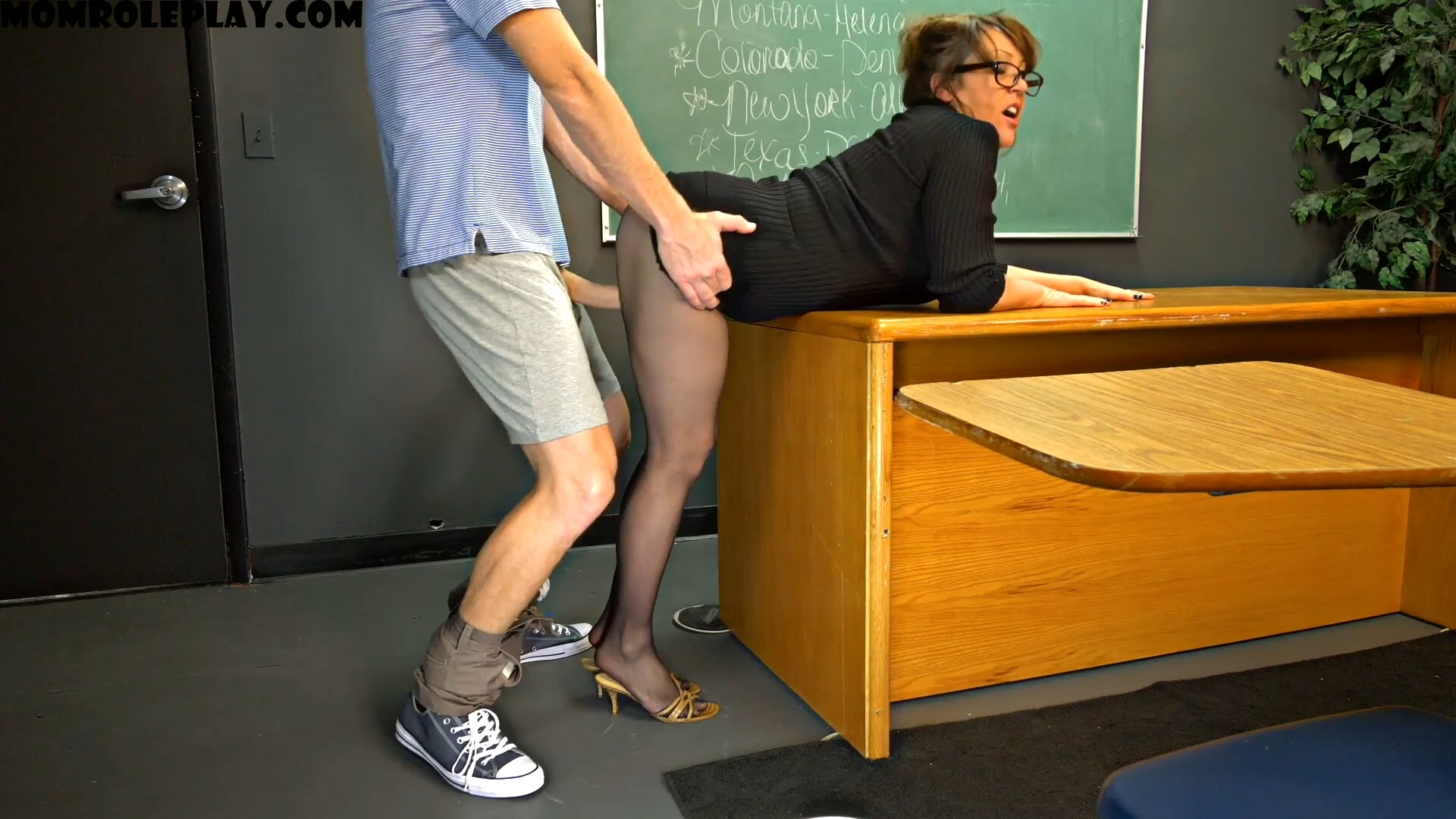 Perversion Productions - Mrs Kandi Cox Teacher Pantyhose FJ Thigh Fuck Phantasy