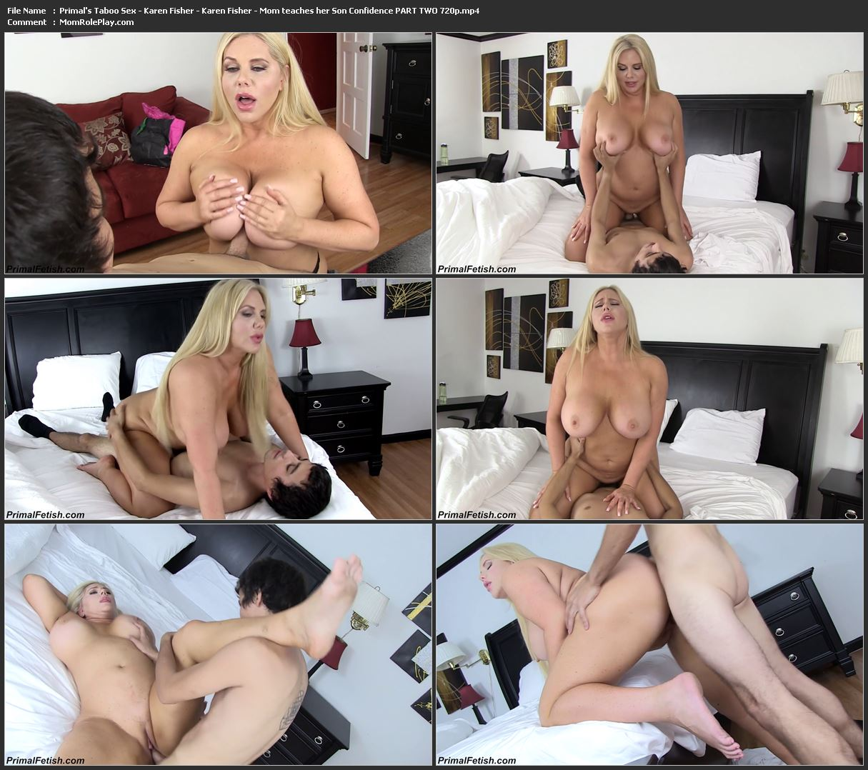 Primal's Taboo Sex - Karen Fisher - Karen Fisher - Mom teaches her Son Confidence PART TWO 720p