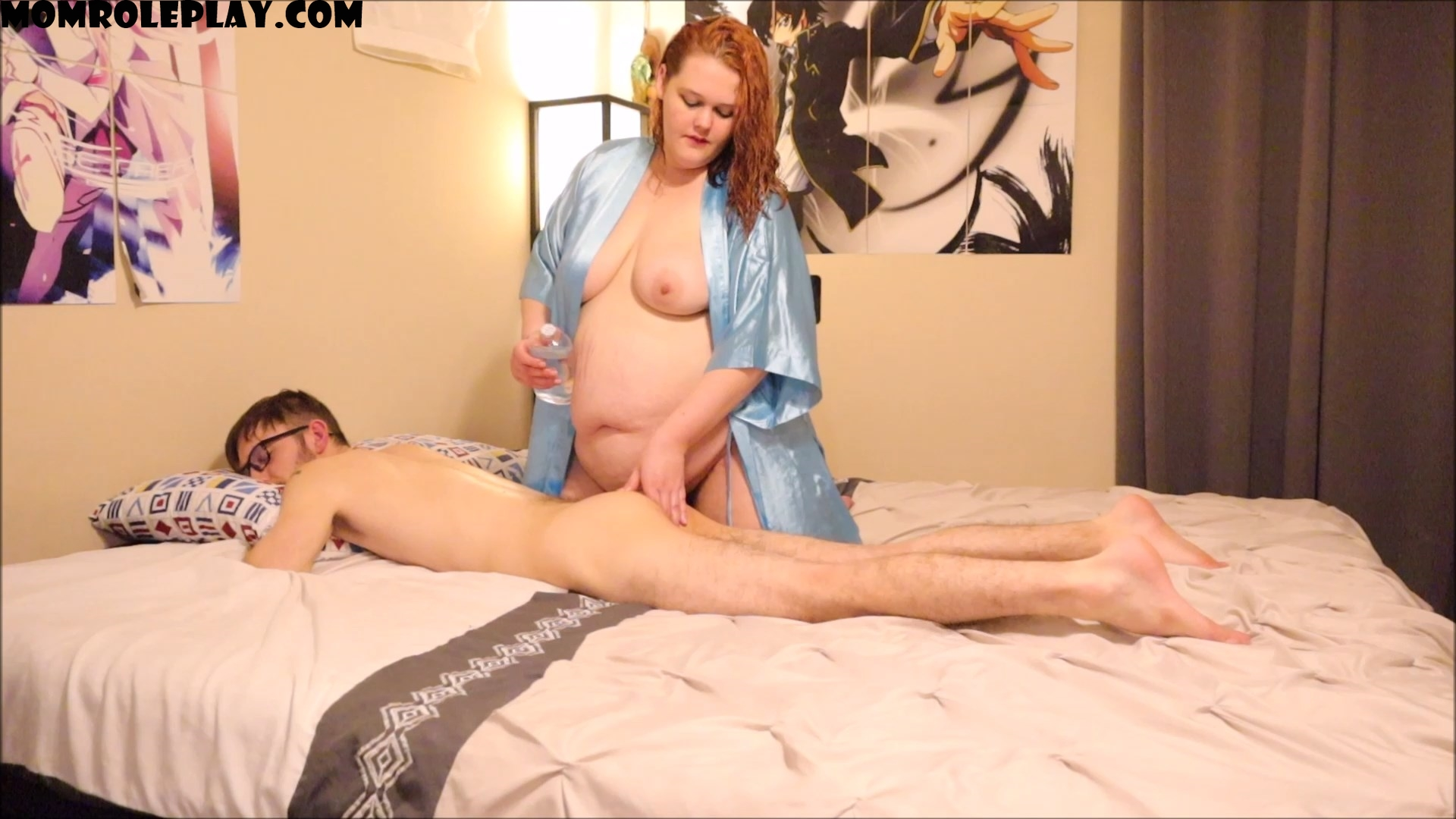 AnJ Spice - t**** Mom Gives StepSon Oil Massage
