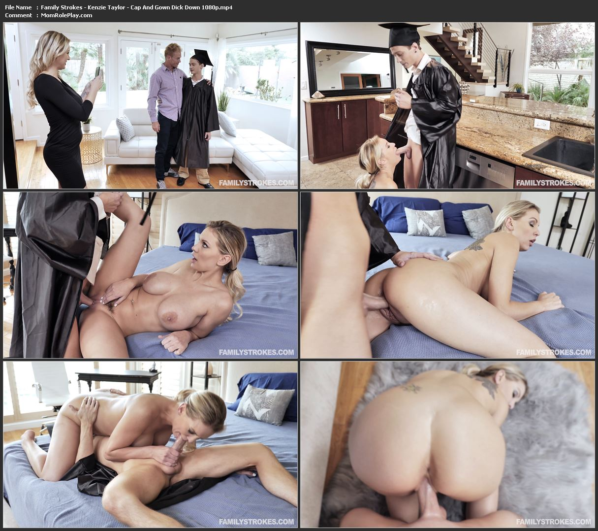 Family Strokes - Kenzie Taylor - Cap And Gown Dick Down 1080p