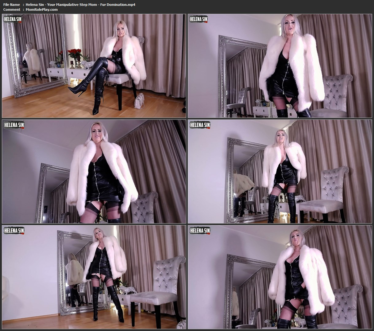 Helena Sin - Your Manipulative Step Mom - Fur Domination