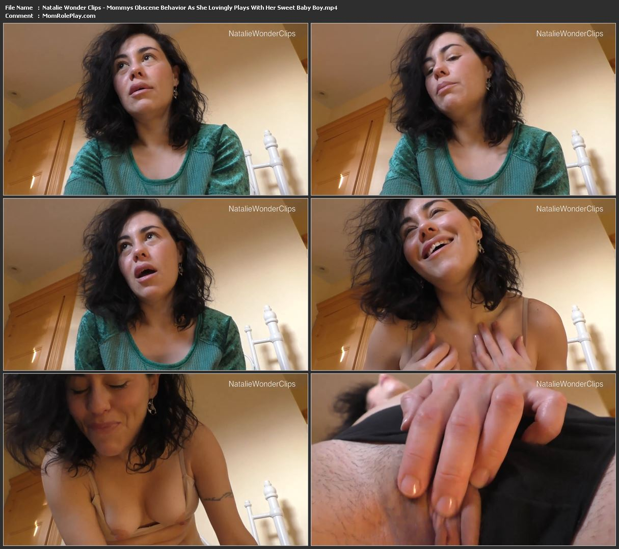 Natalie Wonder Clips - Mommy's Obscene Behavior As She Lovingly Plays With Her Sweet Baby Boy