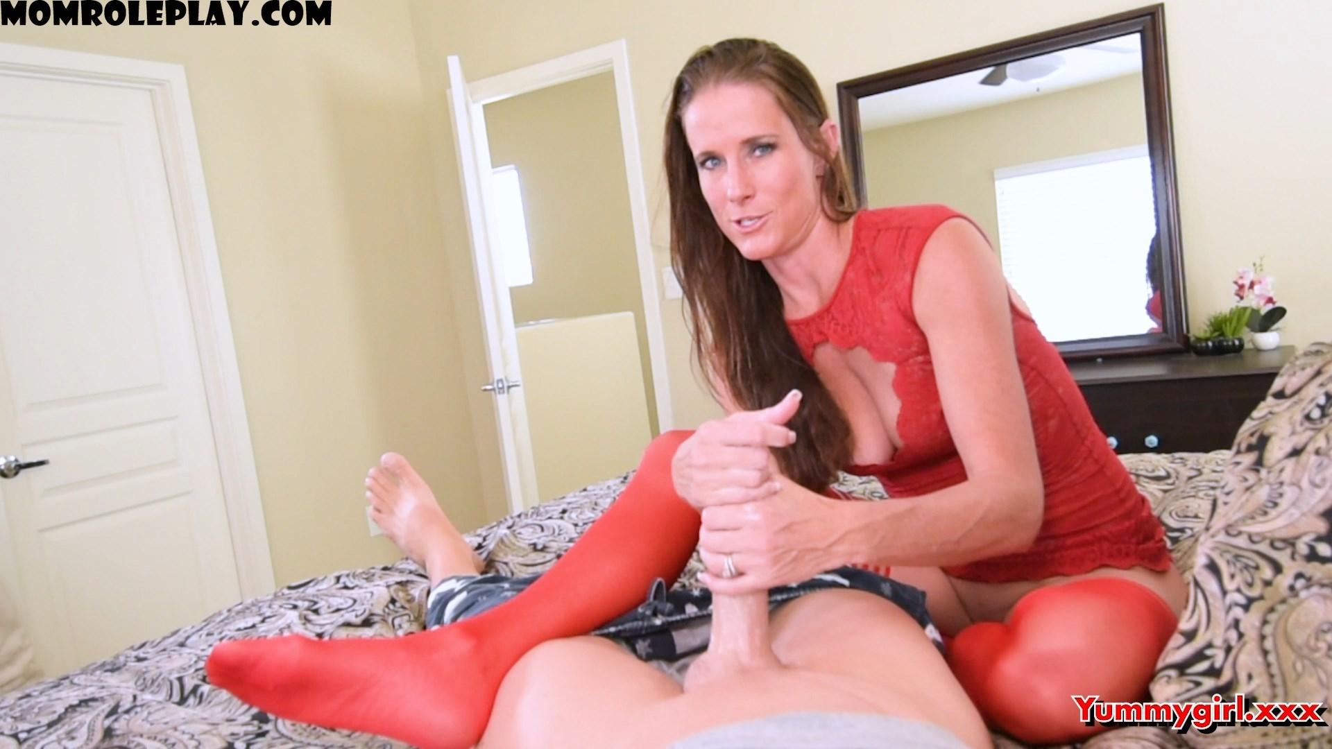 Yummysofie - Sofie Marie - Yummy Step Mom Teaches Son to Jerk Off