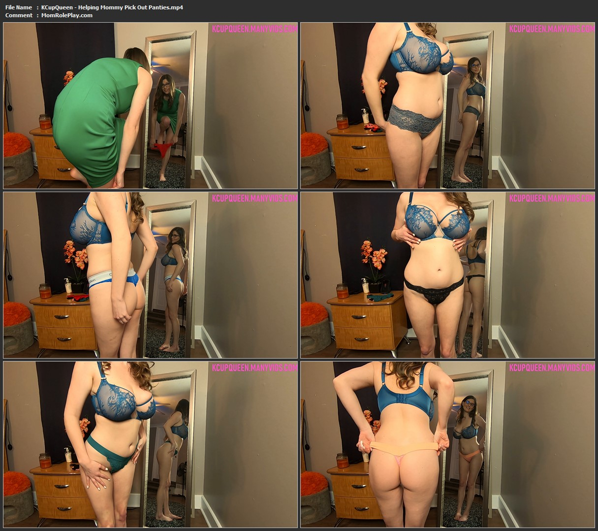 KCupQueen - Helping Mommy Pick Out Panties
