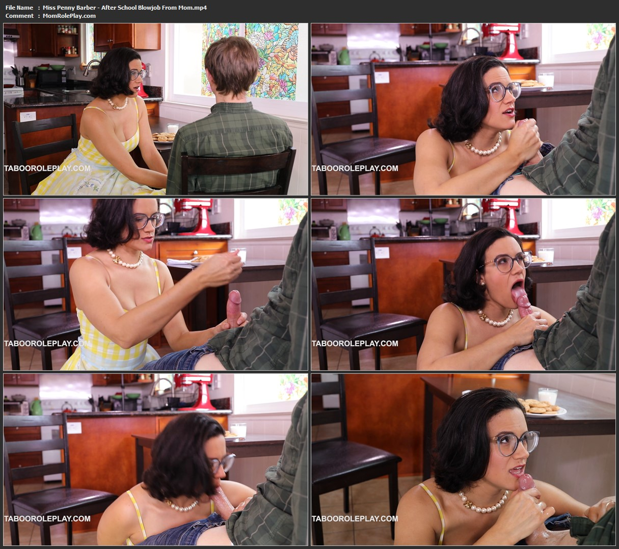 Miss Penny Barber - After School Blowjob From Mom (HD MP4)