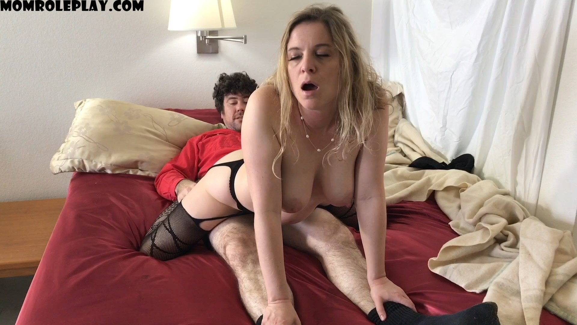 Erin Electra - Stepmom shares bed with horny stepson