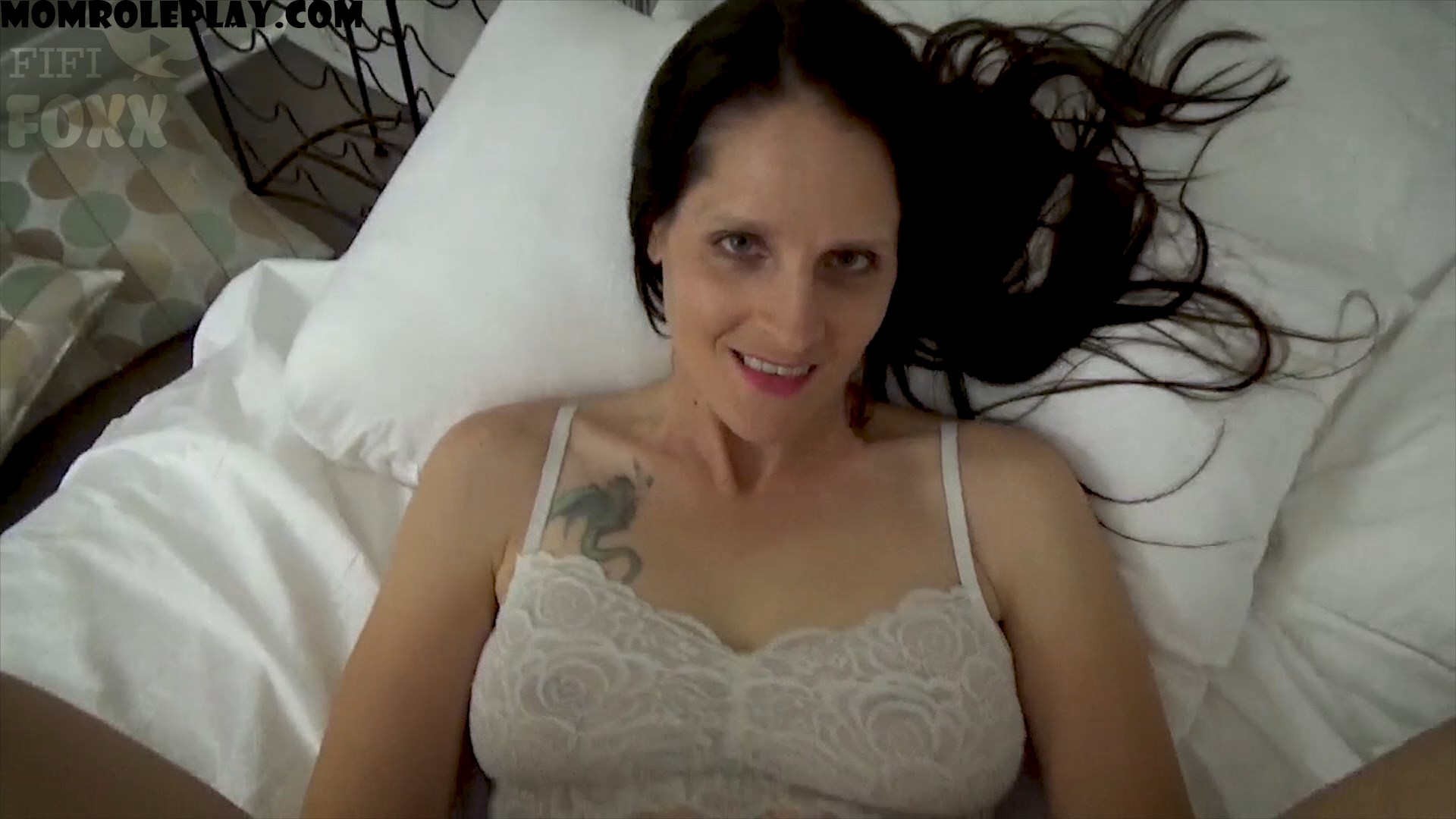Fifi Foxx Fantasies - Christina Sapphire - Mom & Son Share a Bed - Mom Wakes Up to Son Masturbating Beside Her & Helps Him Get off, POV - HD 1080p