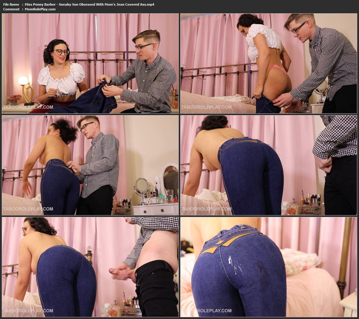 Miss Penny Barber - Sneaky Son Obsessed With Mom's Jean Covered Ass (HD MP4)