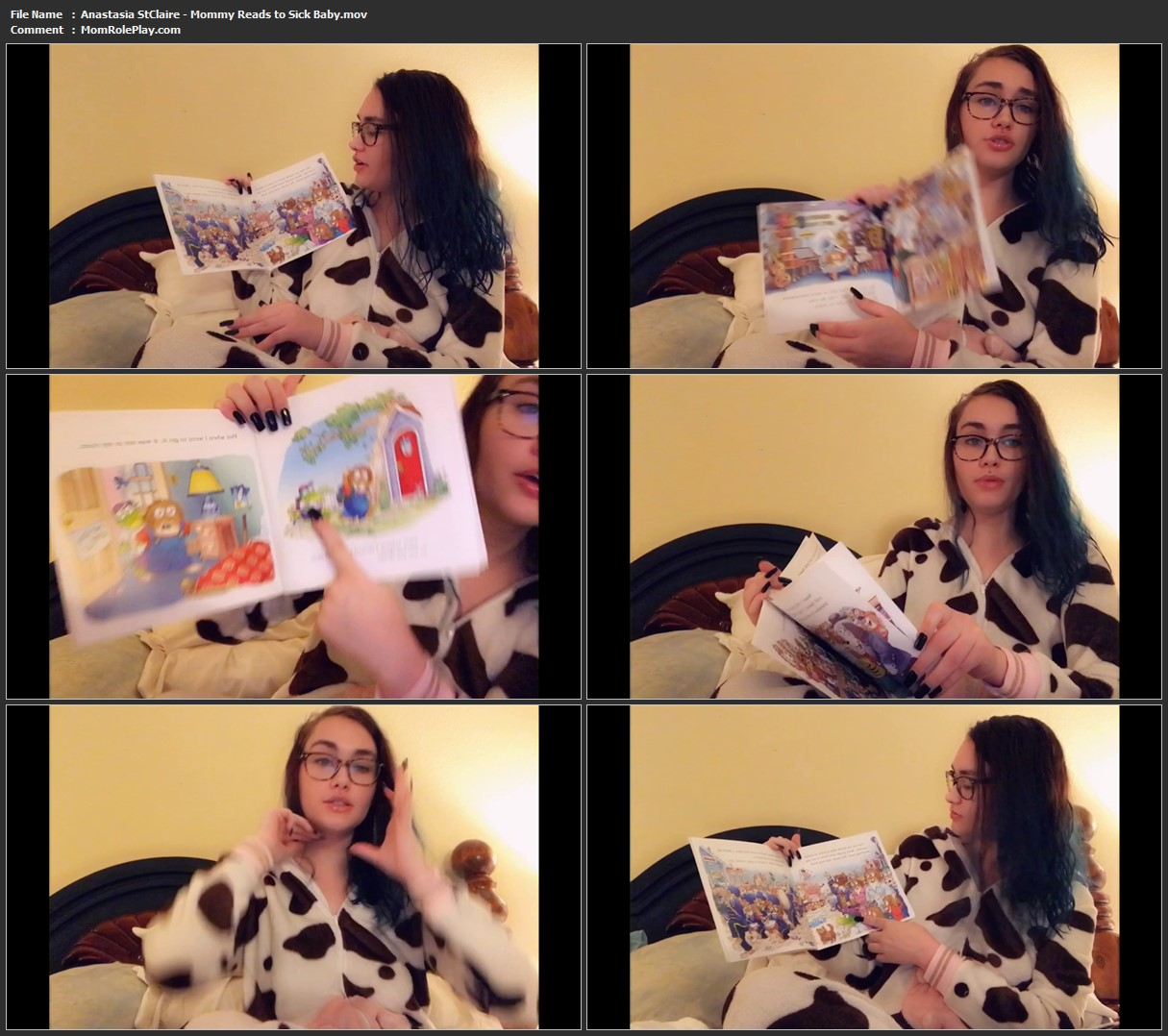 Anastasia StClaire - Mommy Reads to Sick Baby