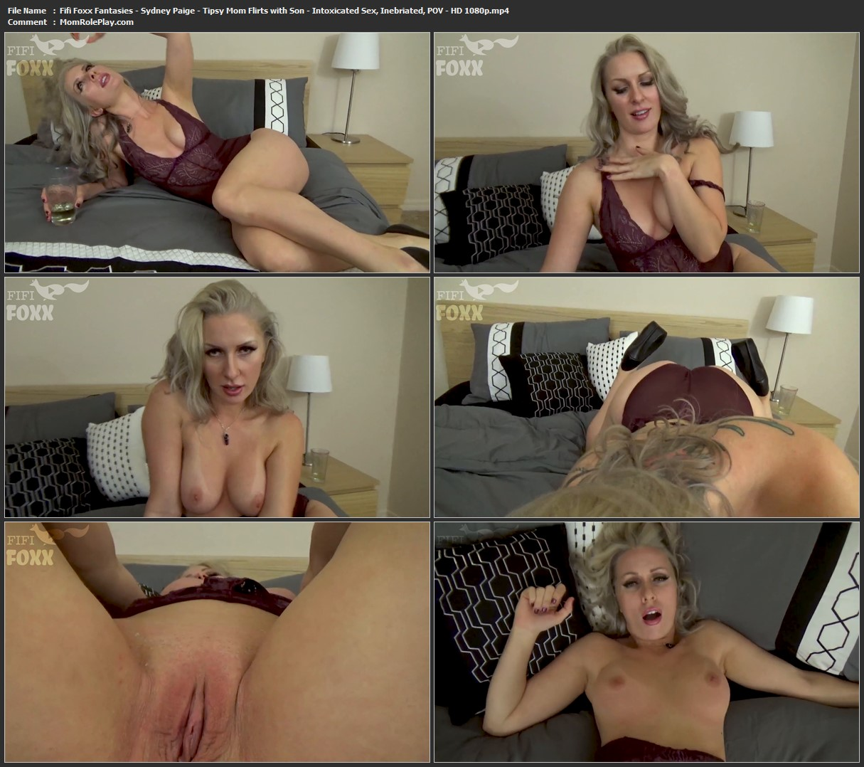 Fifi Foxx Fantasies - Sydney Paige - Tipsy Mom Flirts with Son - Intoxicated Sex, Inebriated, POV - HD 1080p