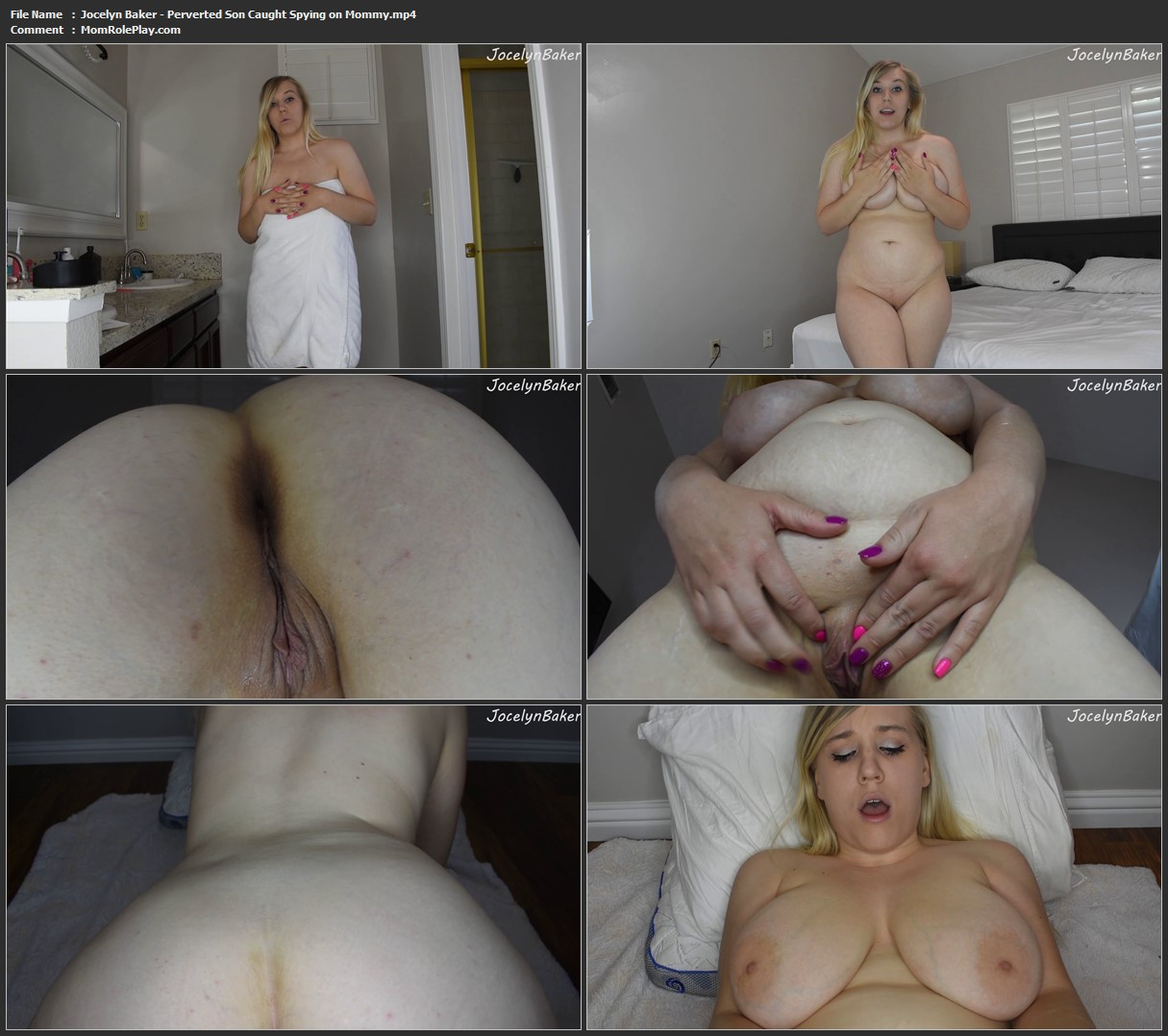 Jocelyn Baker - Perverted Son Caught Spying on Mommy