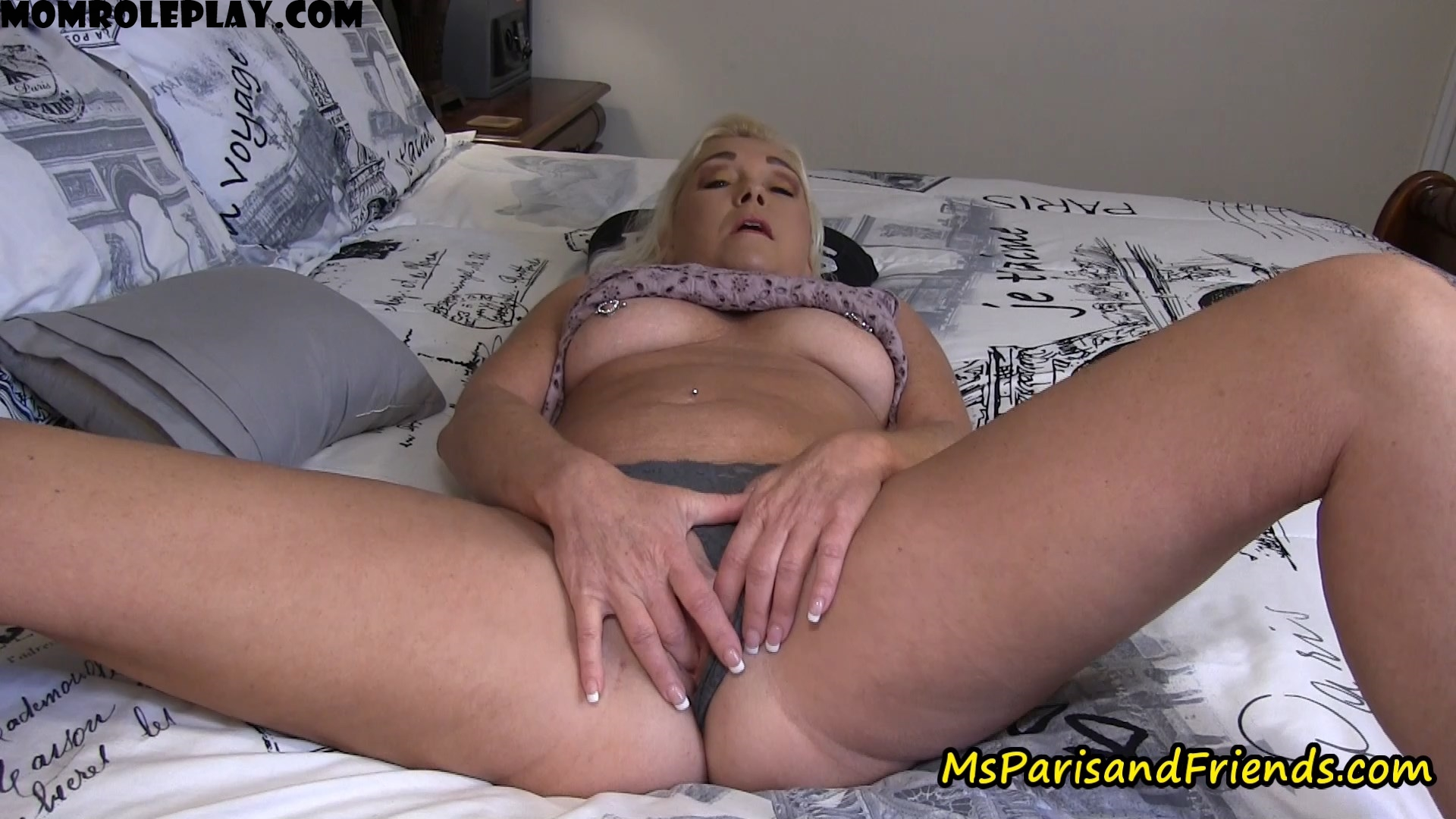 Ms Paris Rose - Taboo Mommy Finger Fucks for Her Son