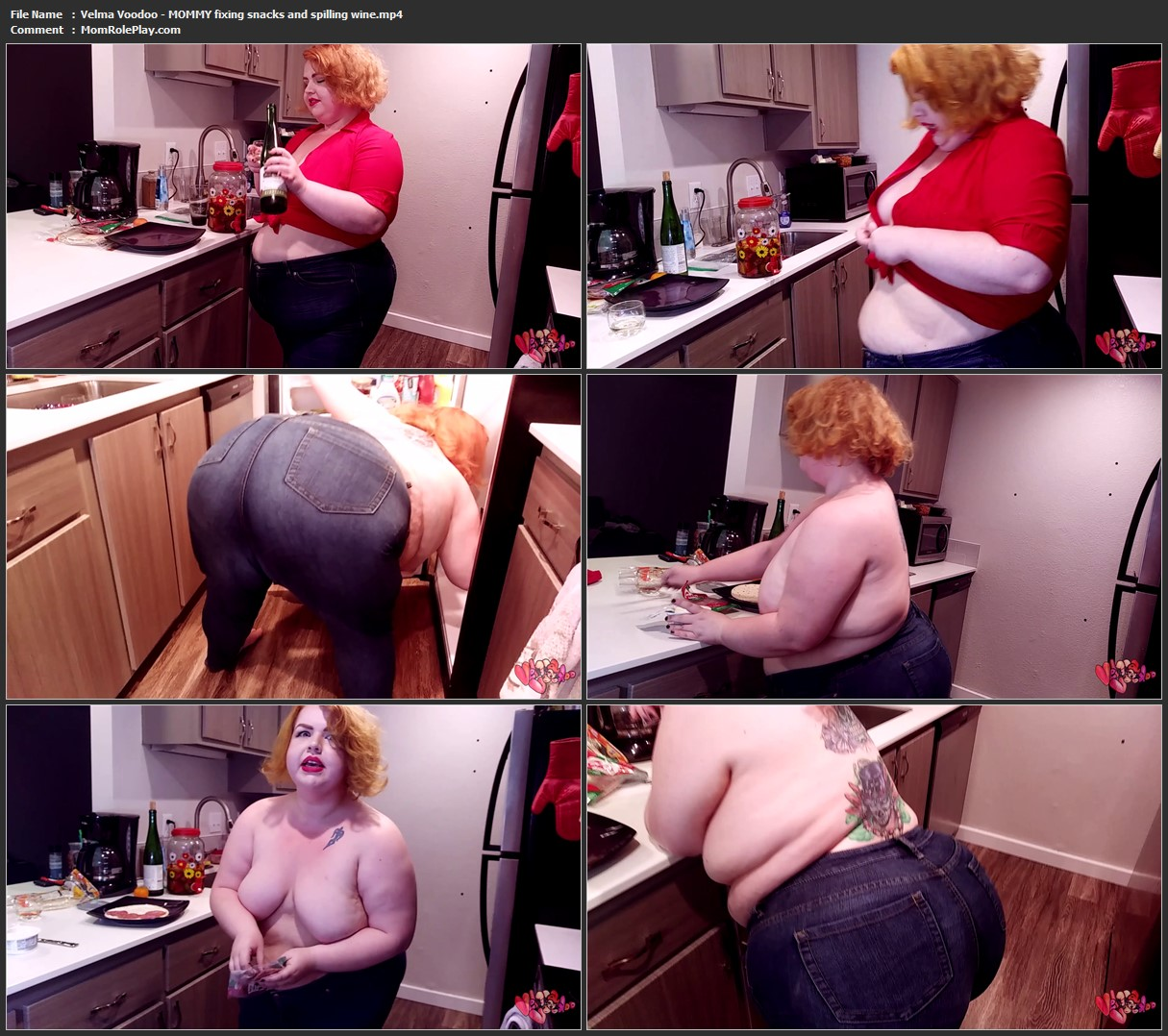 Velma Voodoo - MOMMY fixing snacks and spilling wine