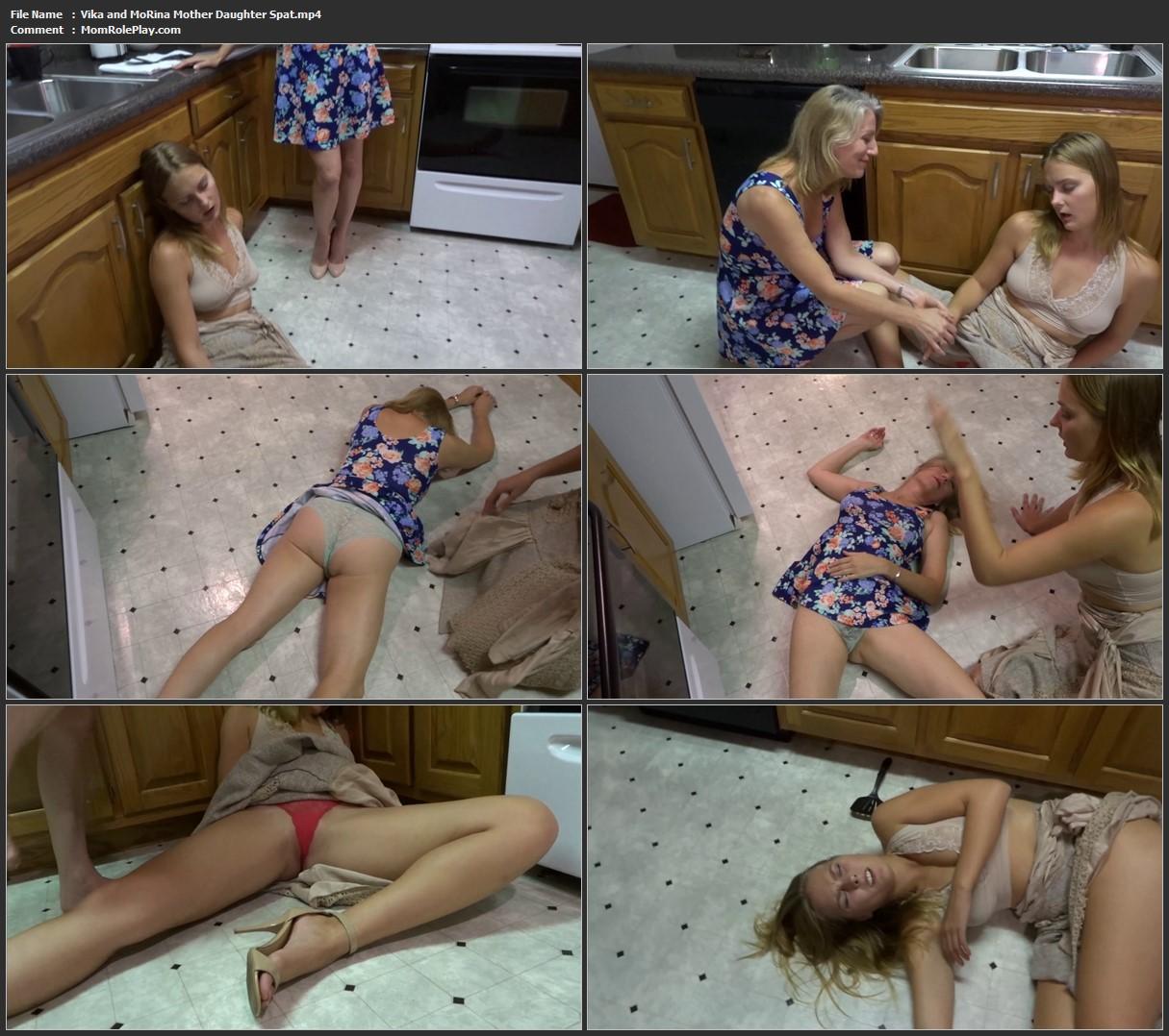 Vika and MoRina Mother Daughter Spat