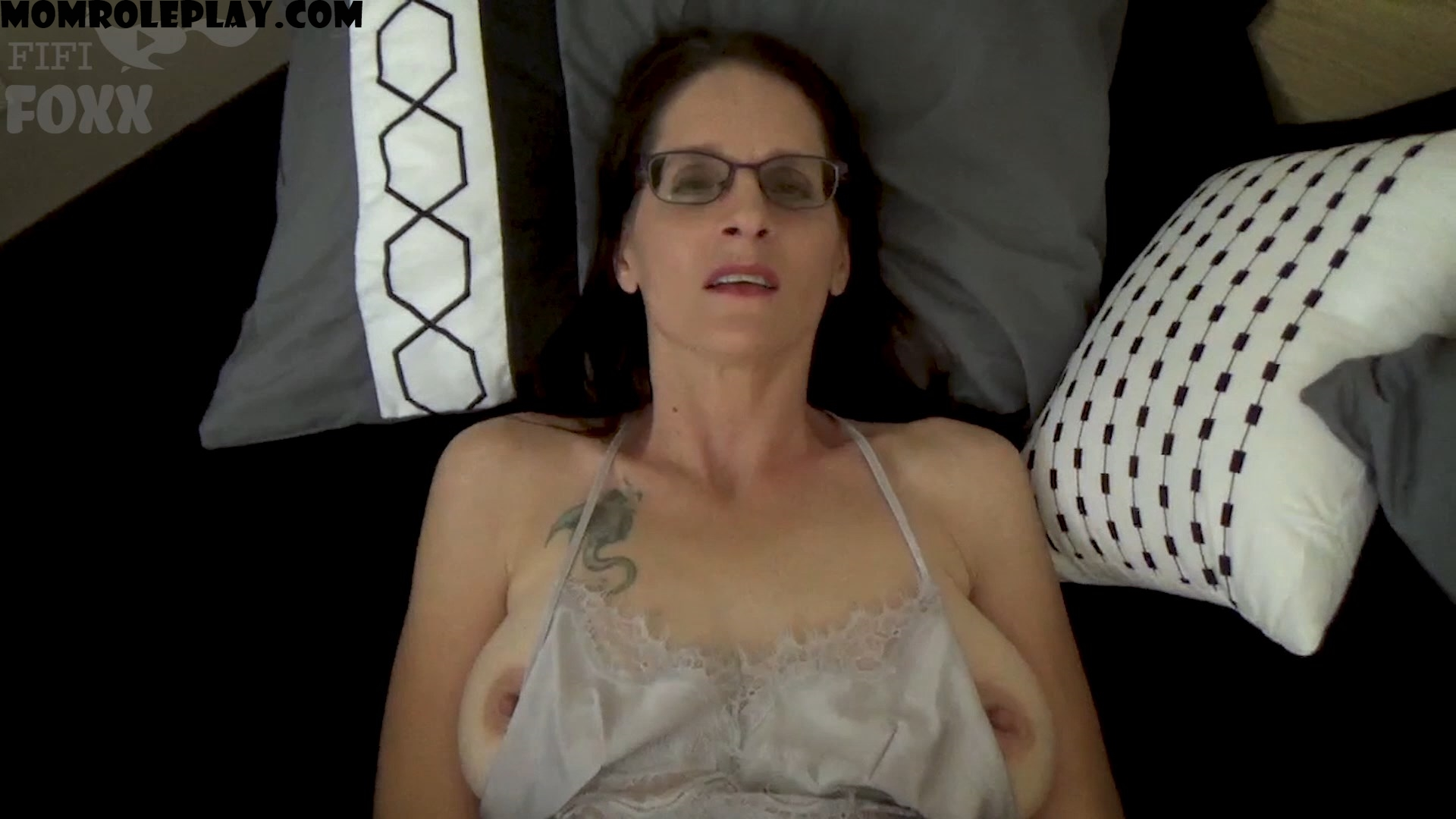 Fifi Foxx Fantasies - Christina Sapphire - Keeping Mommy Warm: Mom & Son Cuddle, Accidental Erection, Mom Helps Son, POV - HD 1080p