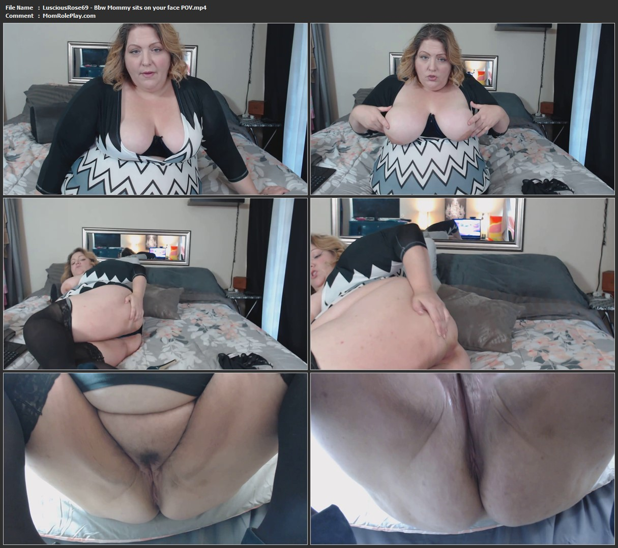 LusciousRose69 - Bbw Mommy sits on your face POV