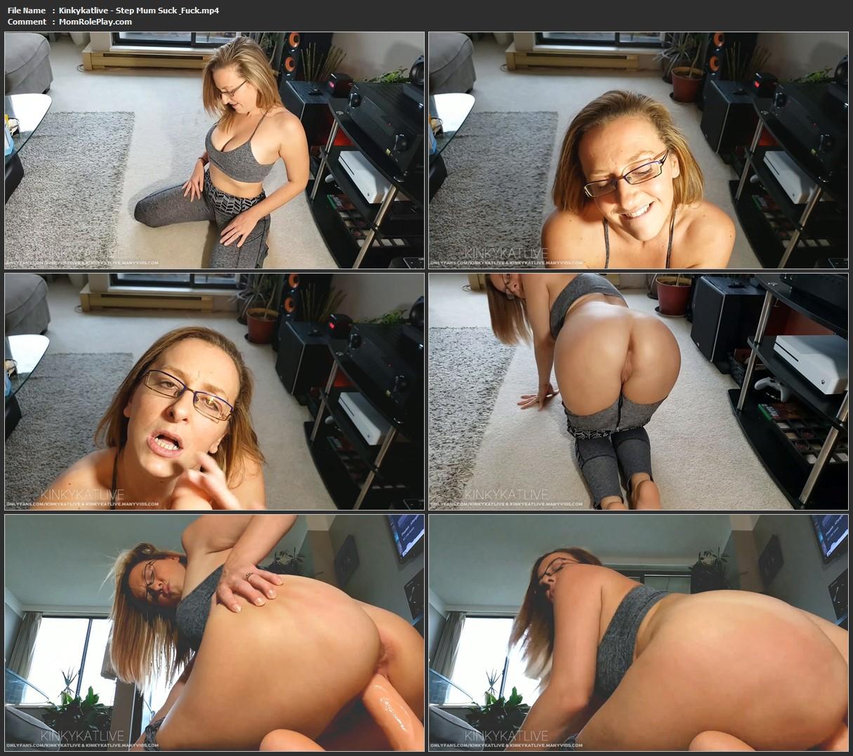 Kinkykatlive - Step Mum Suck & Fuck