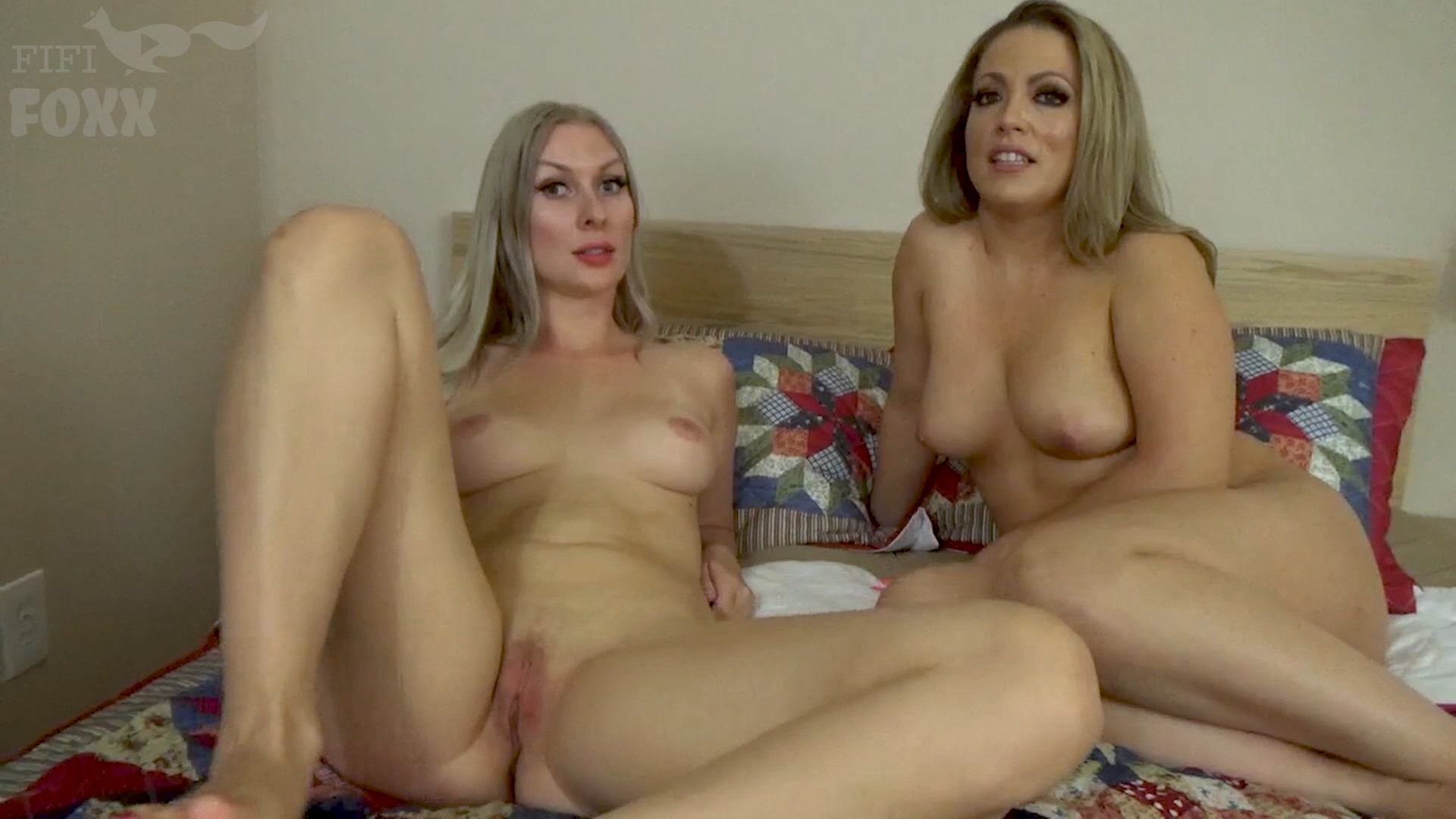 Fifi Foxx Fantasies - Sydney Paige & Carmen Valentina - Lesbian Mothers Let Embarrassed Son Practice Foreplay & Sex on Them: Mommies Teach Son How to Pleasure a Woman, POV - HD 1080p