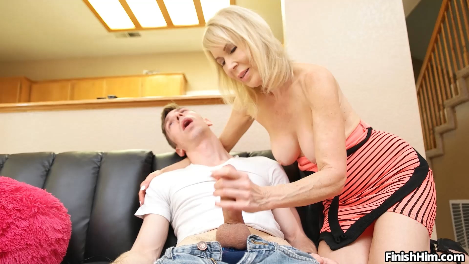 Finish Him - Erica Lauren - Step Son Reach Around 1080p