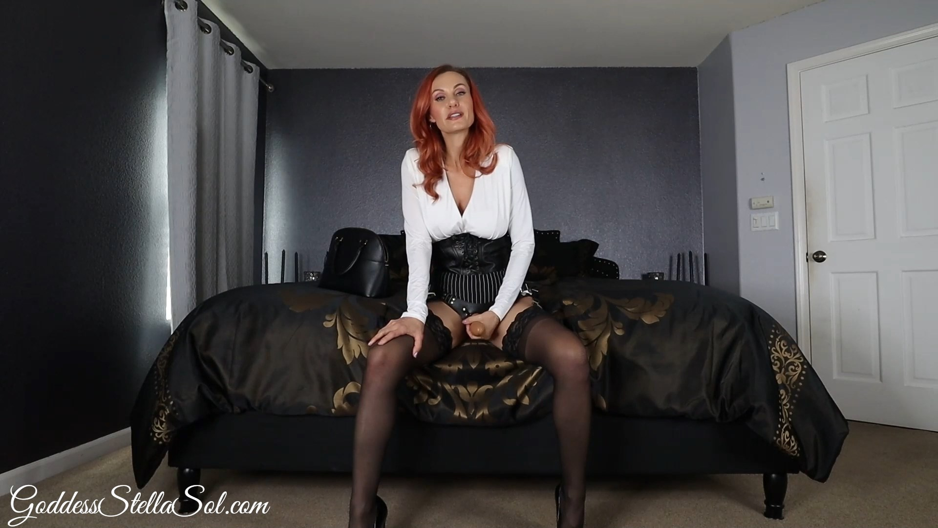 Goddess Stella Sol - StepMommy Strap-On Tease and Denial