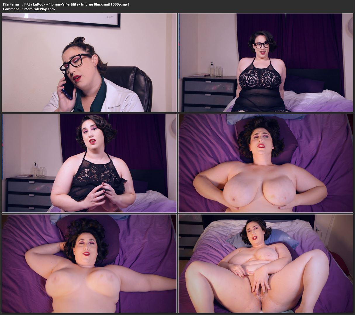 Kitty LeRoux - Mommy's Fertility- Impreg Blackmail 1080p