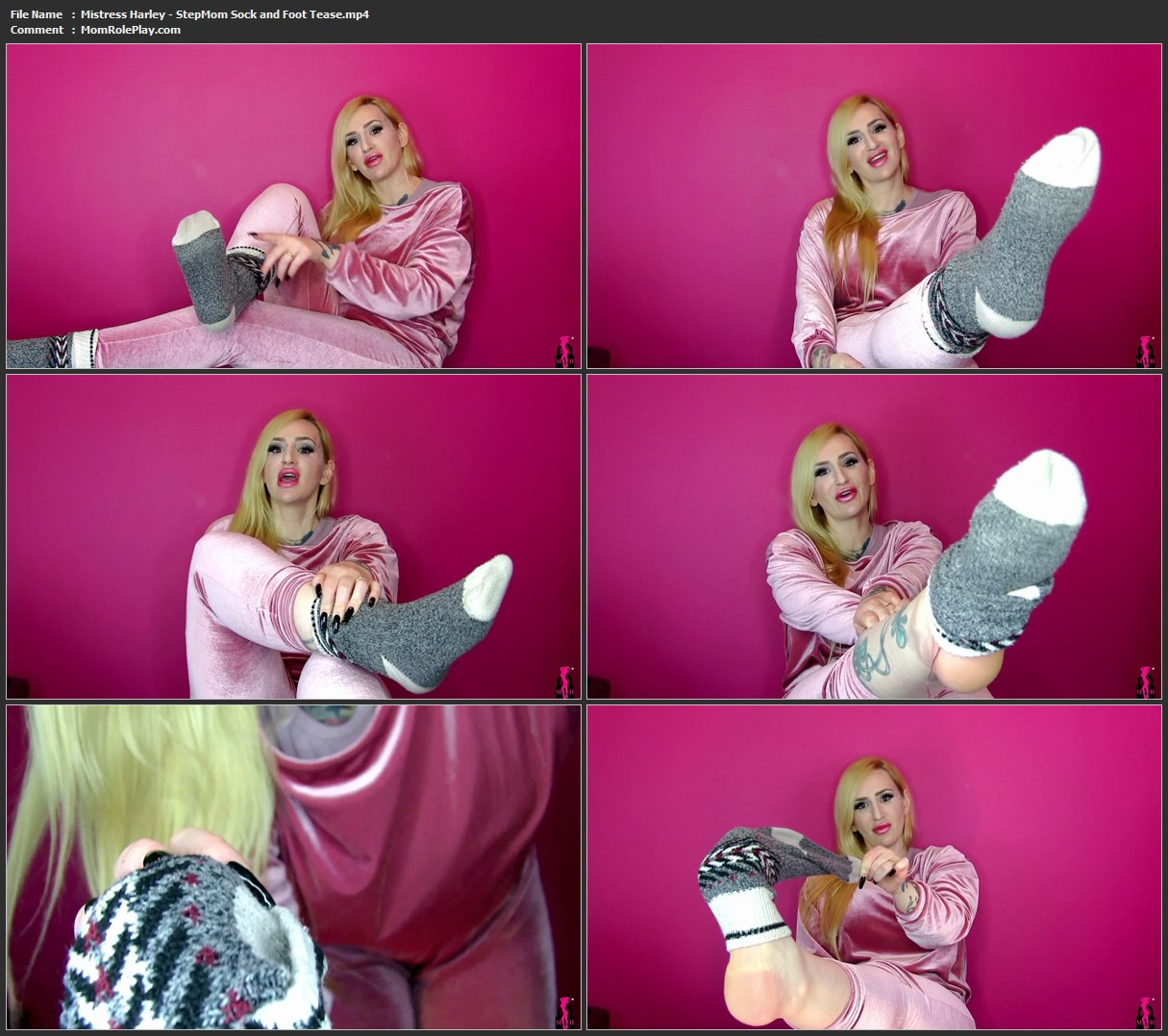 Mistress Harley - StepMom Sock and Foot Tease