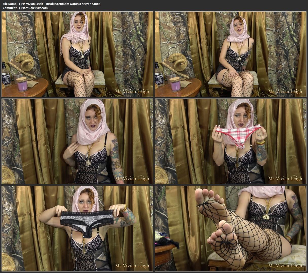 Ms Vivian Leigh - HIjabi Stepmom wants a sissy 4K
