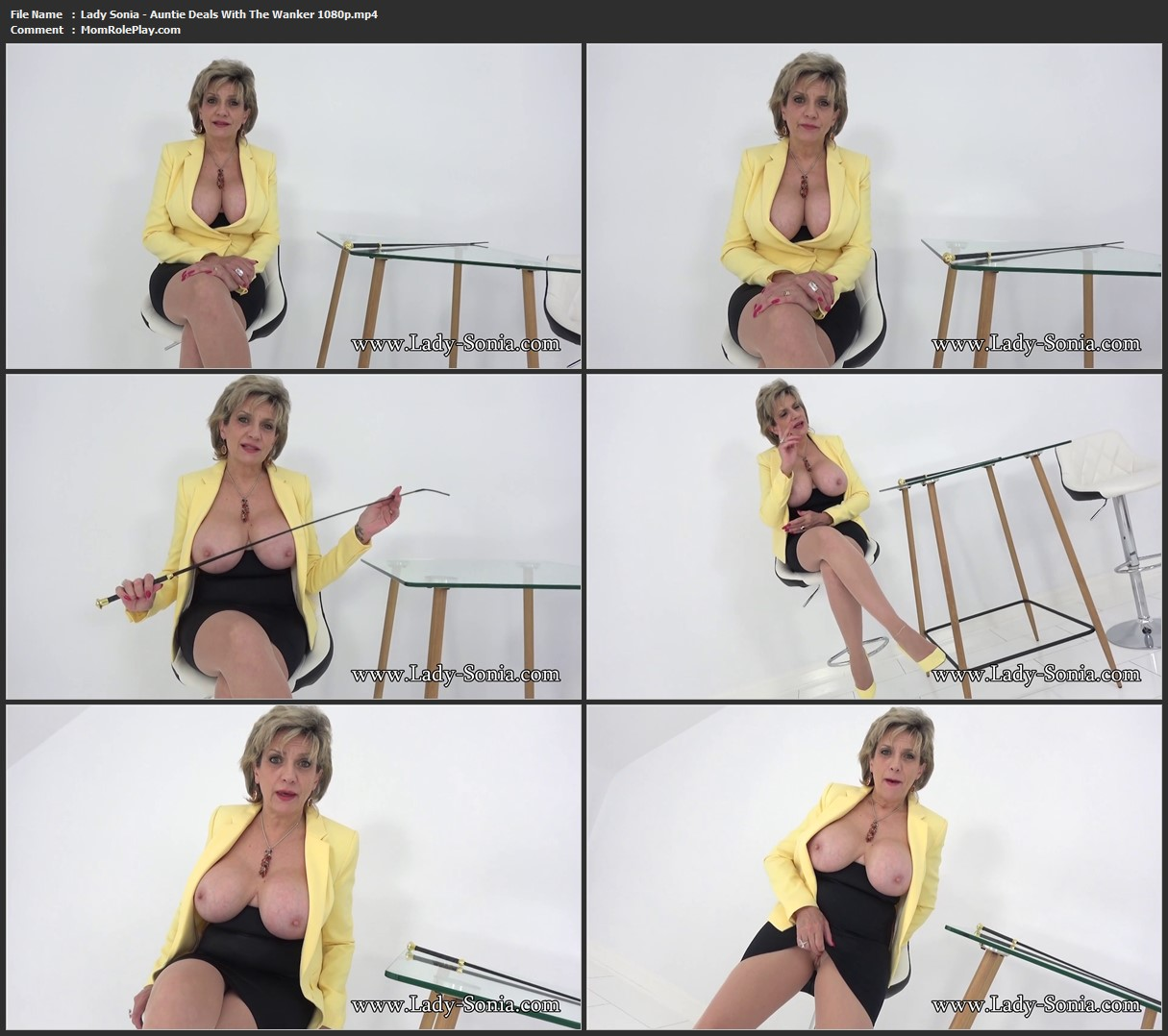 Lady Sonia - Auntie Deals With The Wanker