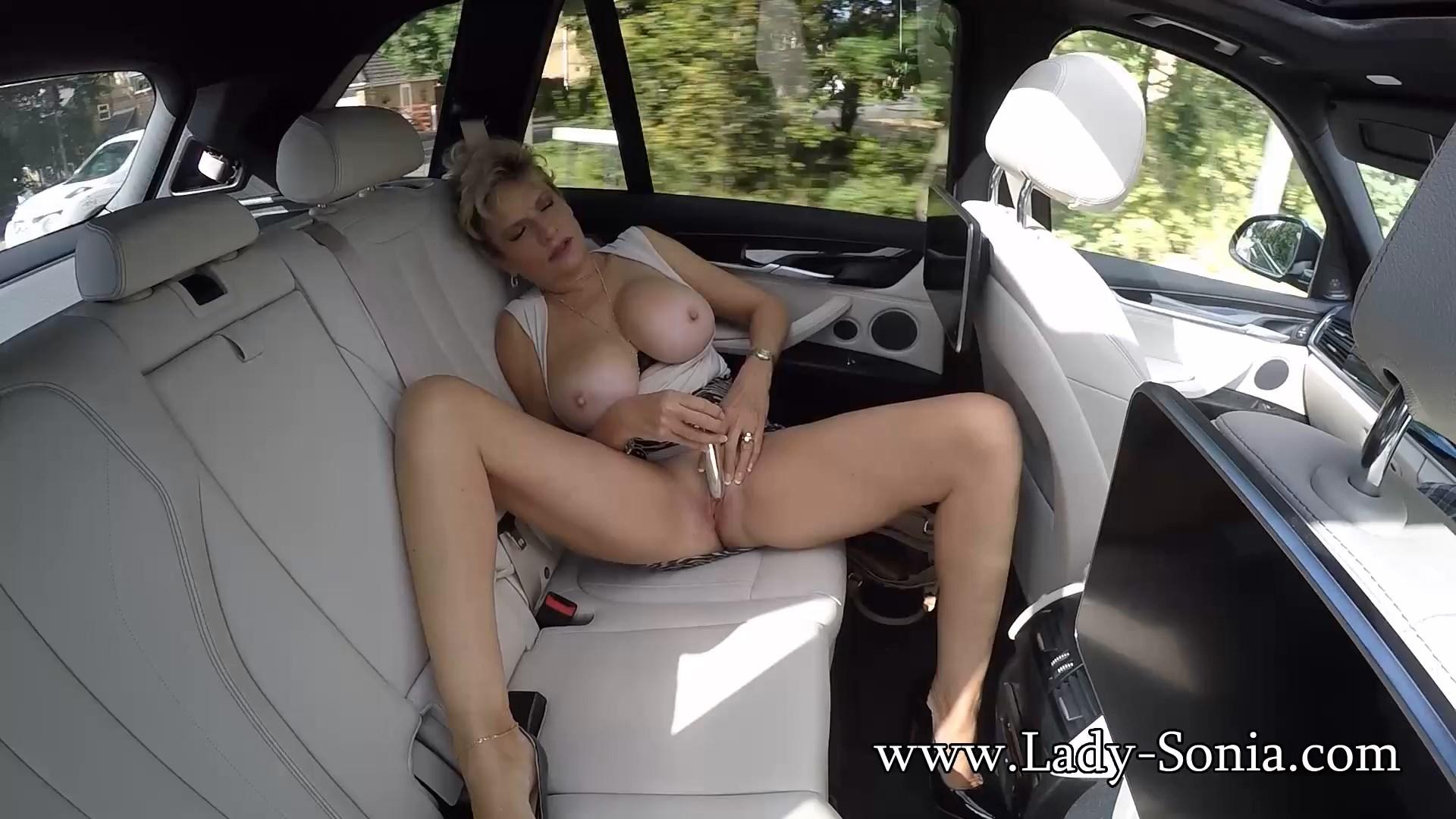 Lady Sonia - Flashing My Big Tits In The Car