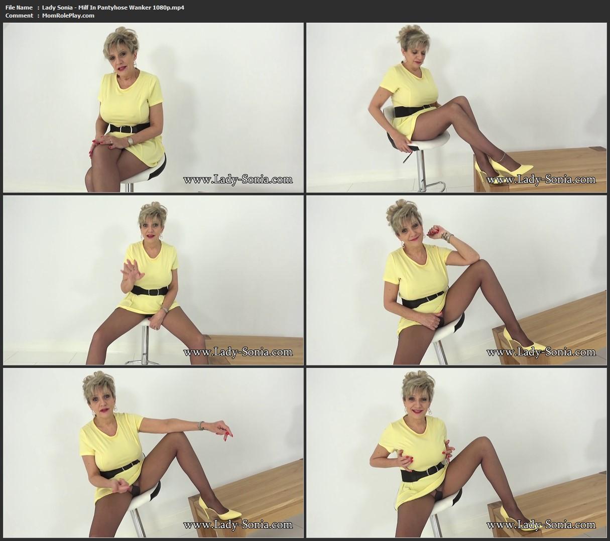 Lady Sonia - Milf In Pantyhose Wanker
