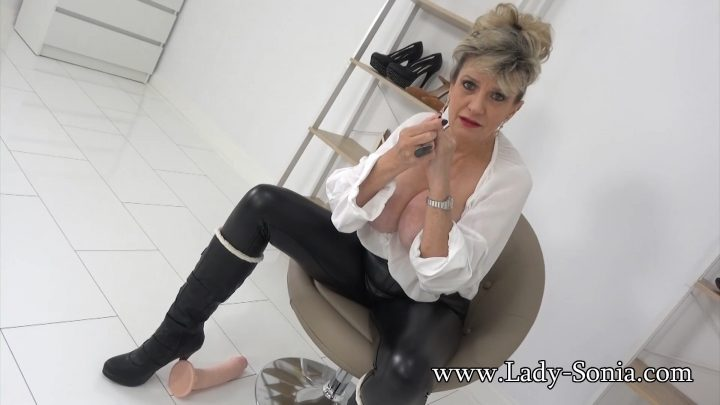 Lady Sonia - My Huge New Dildo And Your Cock