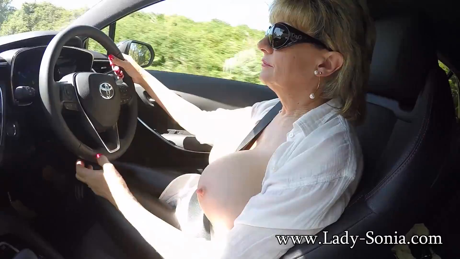 Lady Sonia - Out In The Car And Clips Outdoors