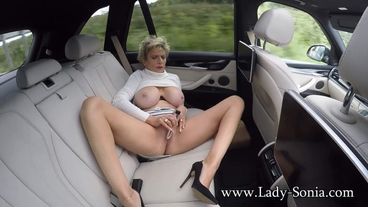 Lady Sonia - Public Masturbation On The A1Lady Sonia