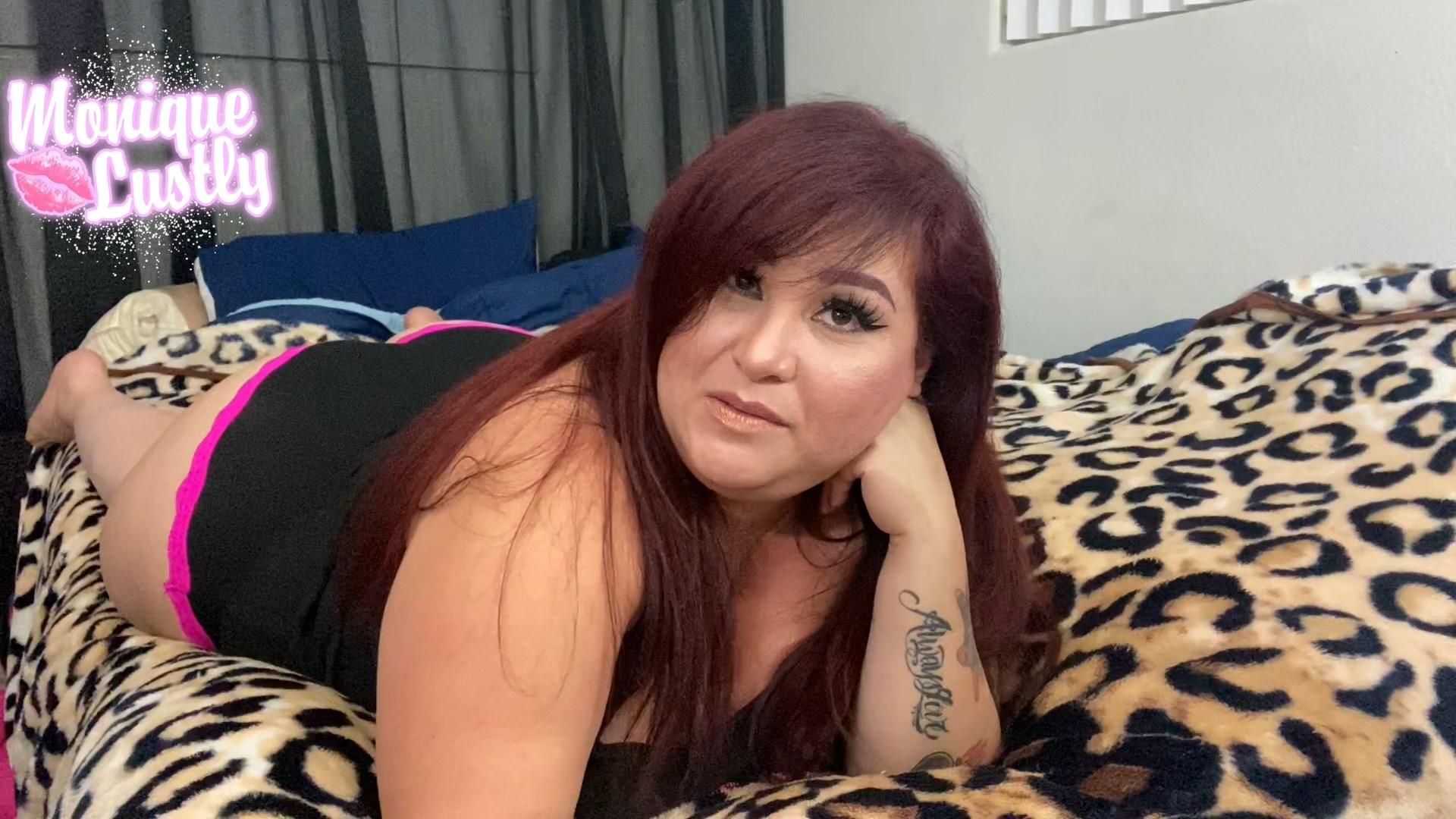 Monique Lustly - Stepmom Sucks Son's Huge Cock