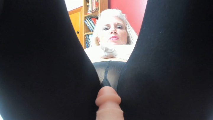 Painted Rose - Mommy's Black Pantyhose Footjob