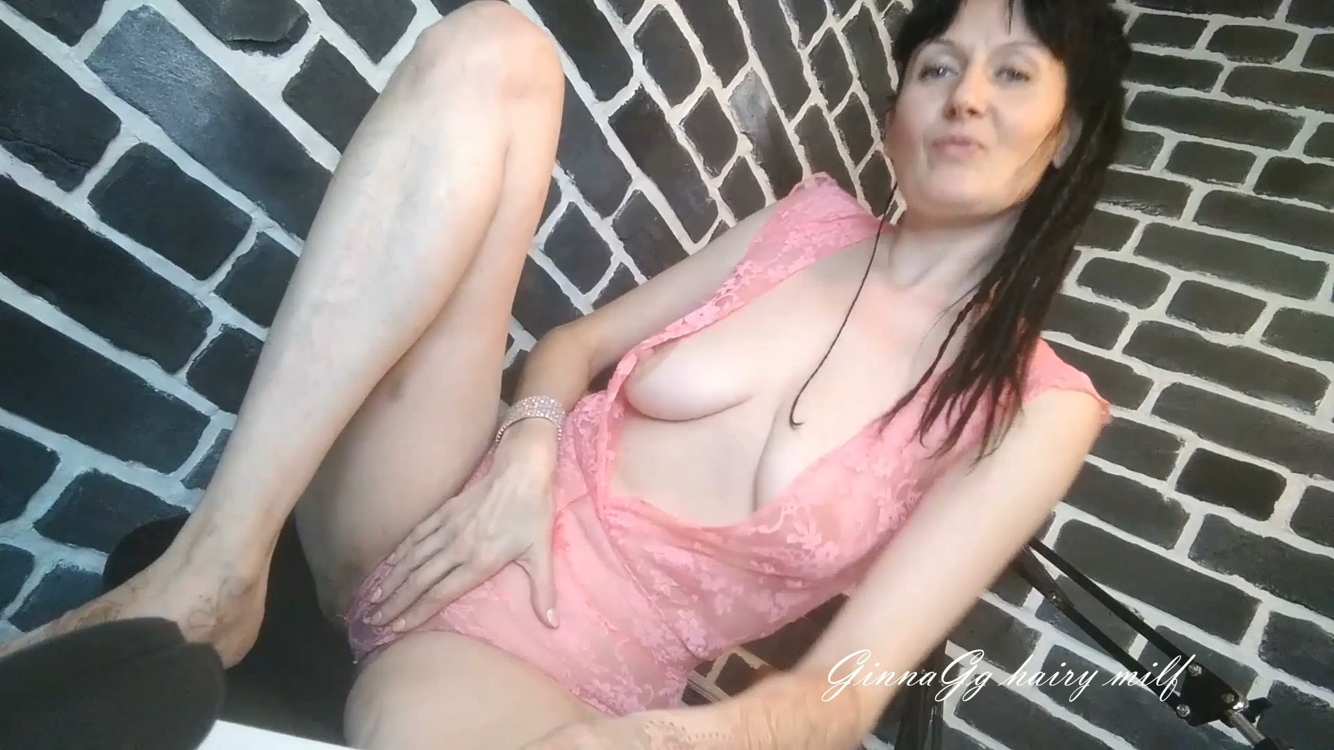 Ginnia - Big Nipples and Hanging Tits, Hairy Ledy