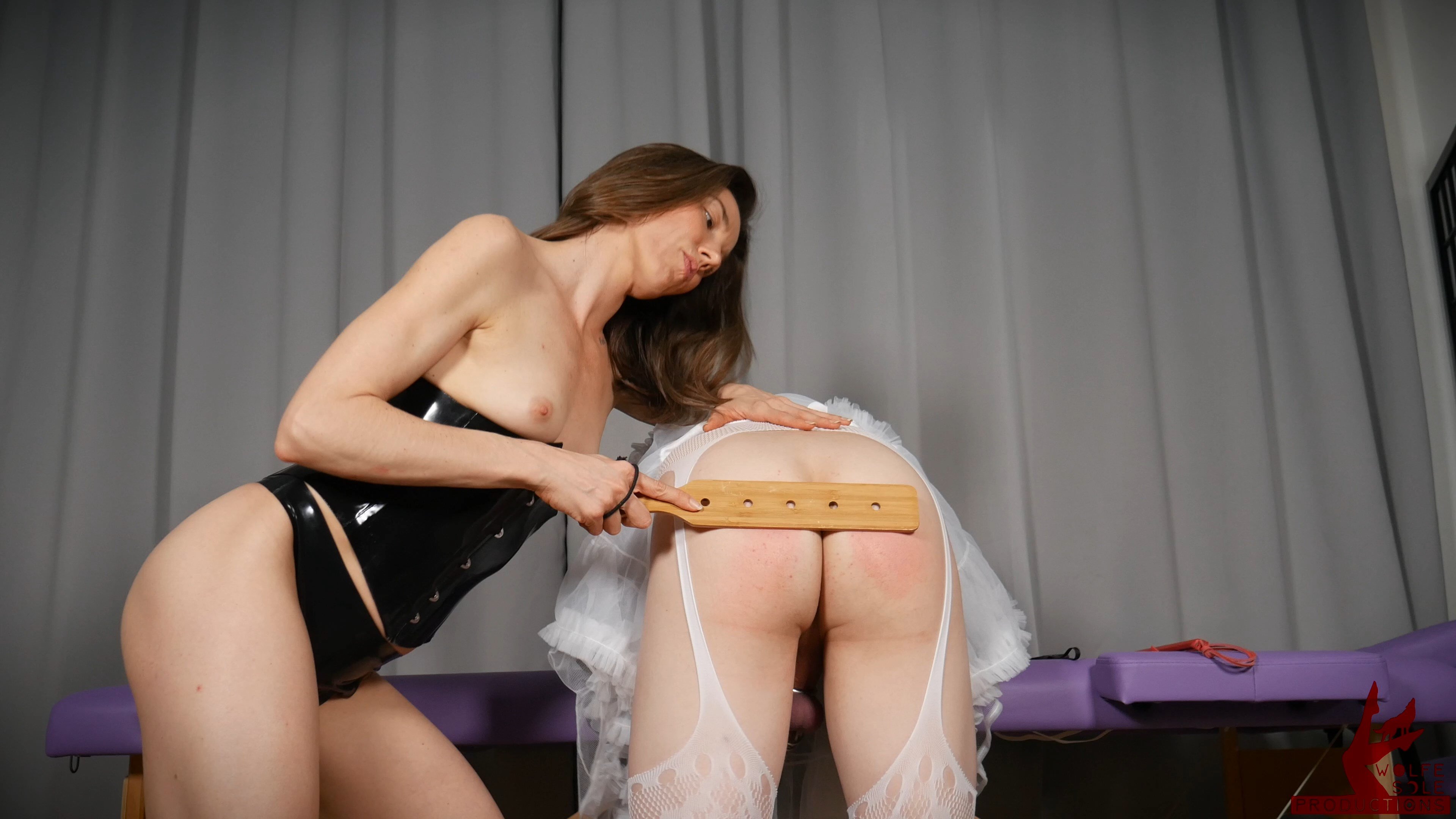 Goddess Wolfe - Mommy Will Spank The Embarrassment Away