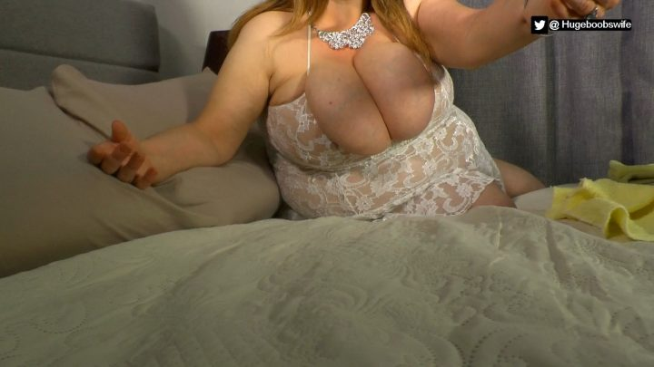 HugeBoobsWife - Mommy Comforts Son After a Bad Day