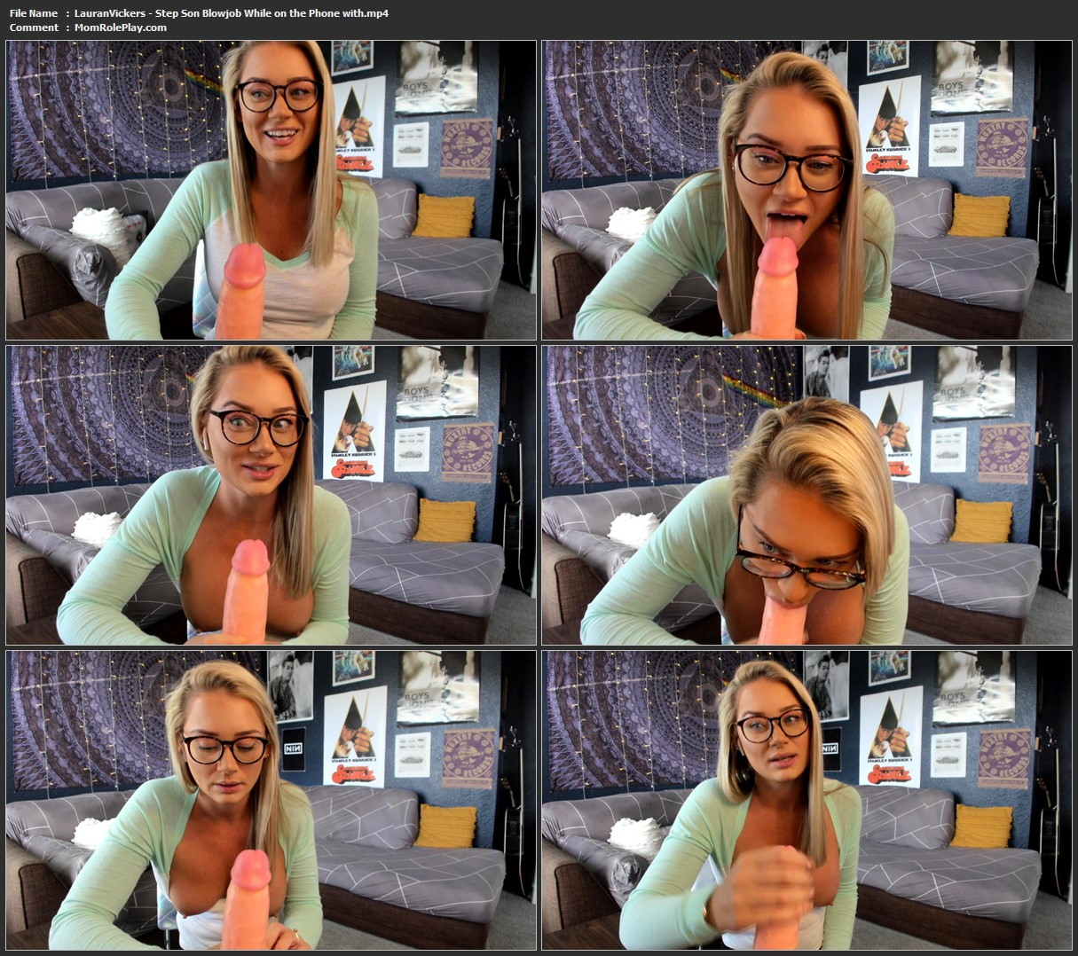 Lauran Vickers - Step-Son Blowjob While on the Phone with