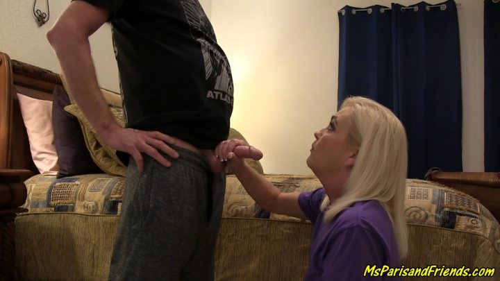 Ms Paris Rose – Mommy Teaches son How to Jerk His Cock
