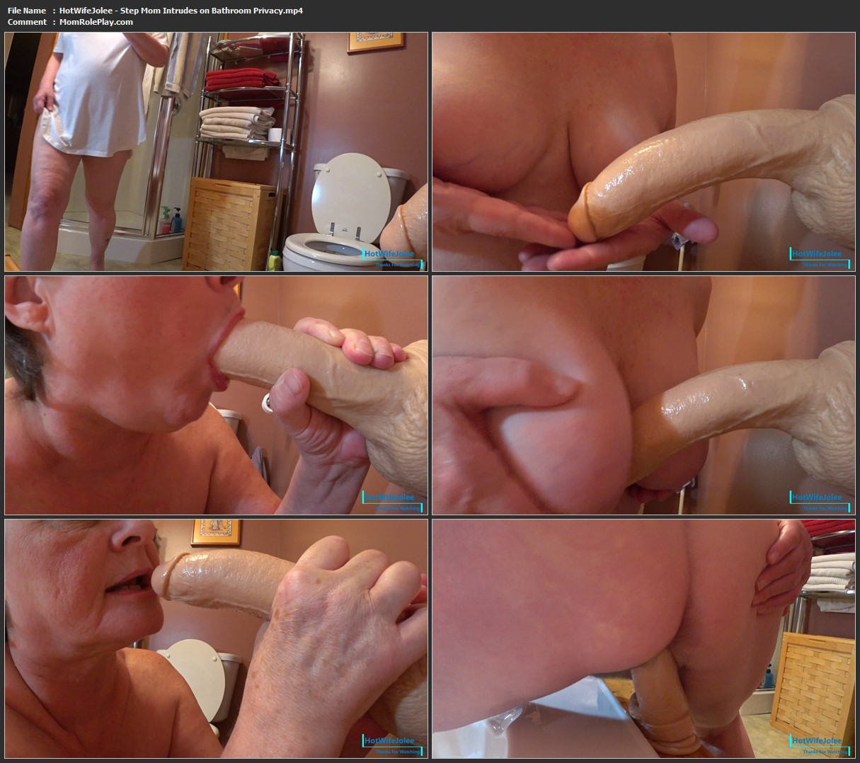 HotWifeJolee - Step Mom Intrudes on Bathroom Privacy