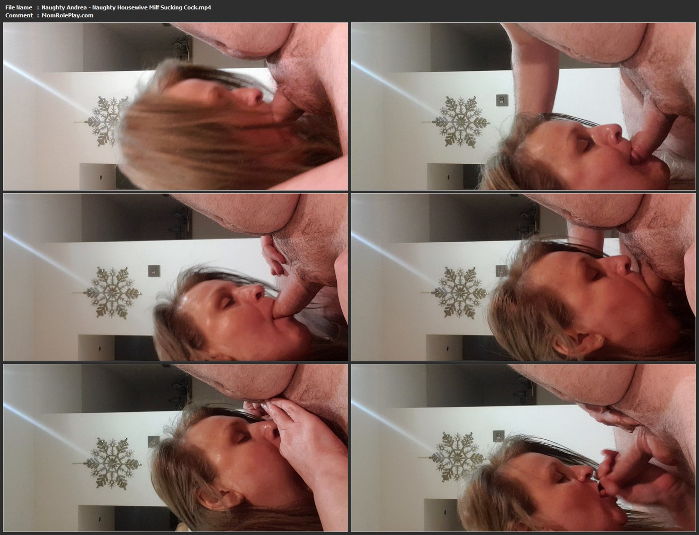 Naughty Andrea - Naughty Housewive Milf Sucking Cock