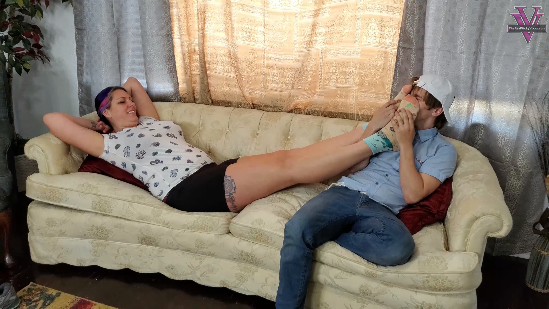 Spoiled Mean MYLFs - Step-Son Mesmerized to Love Stinky Feet
