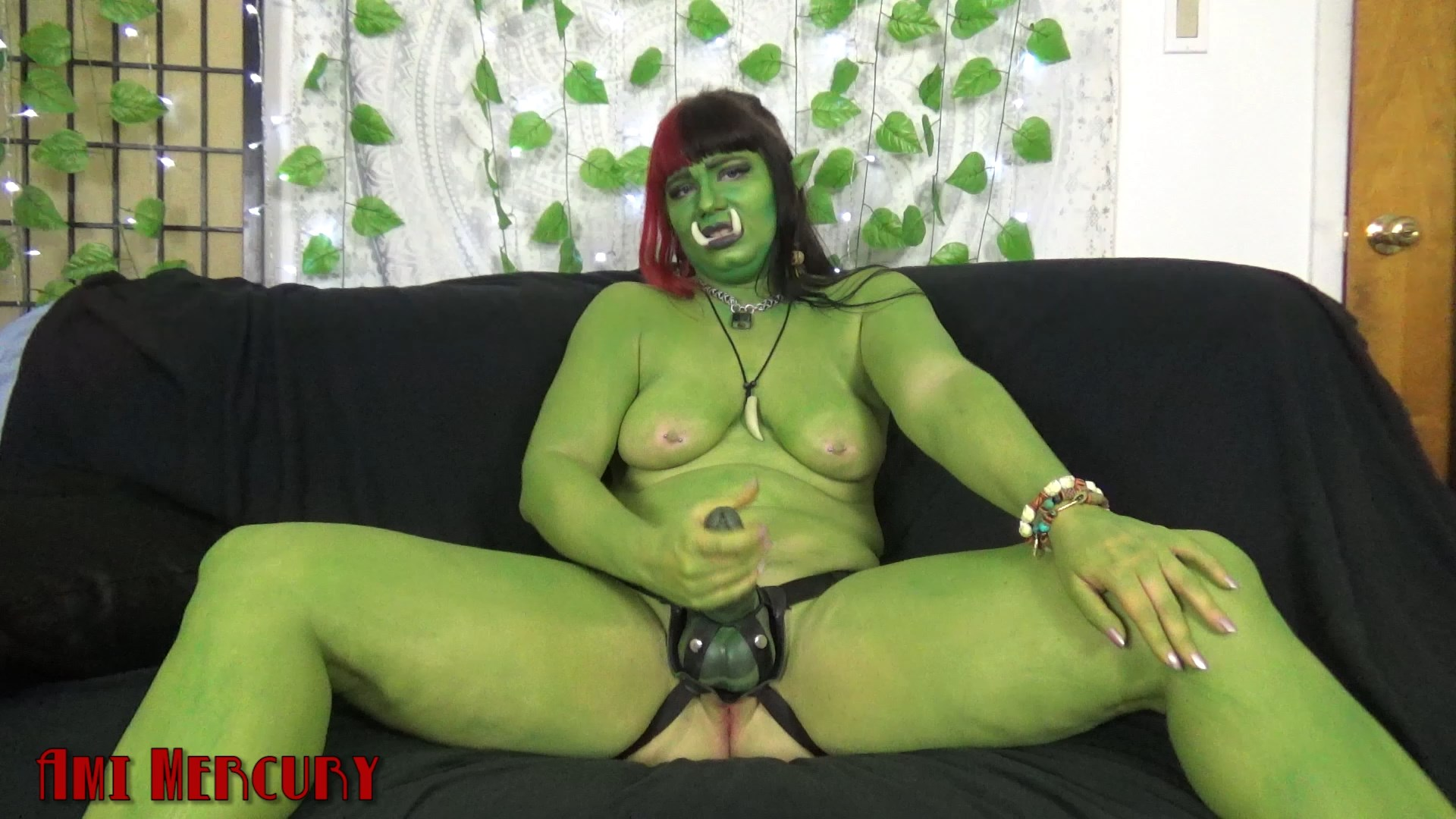 Ami Mercury - Orc-Mommy Strap-On JOI