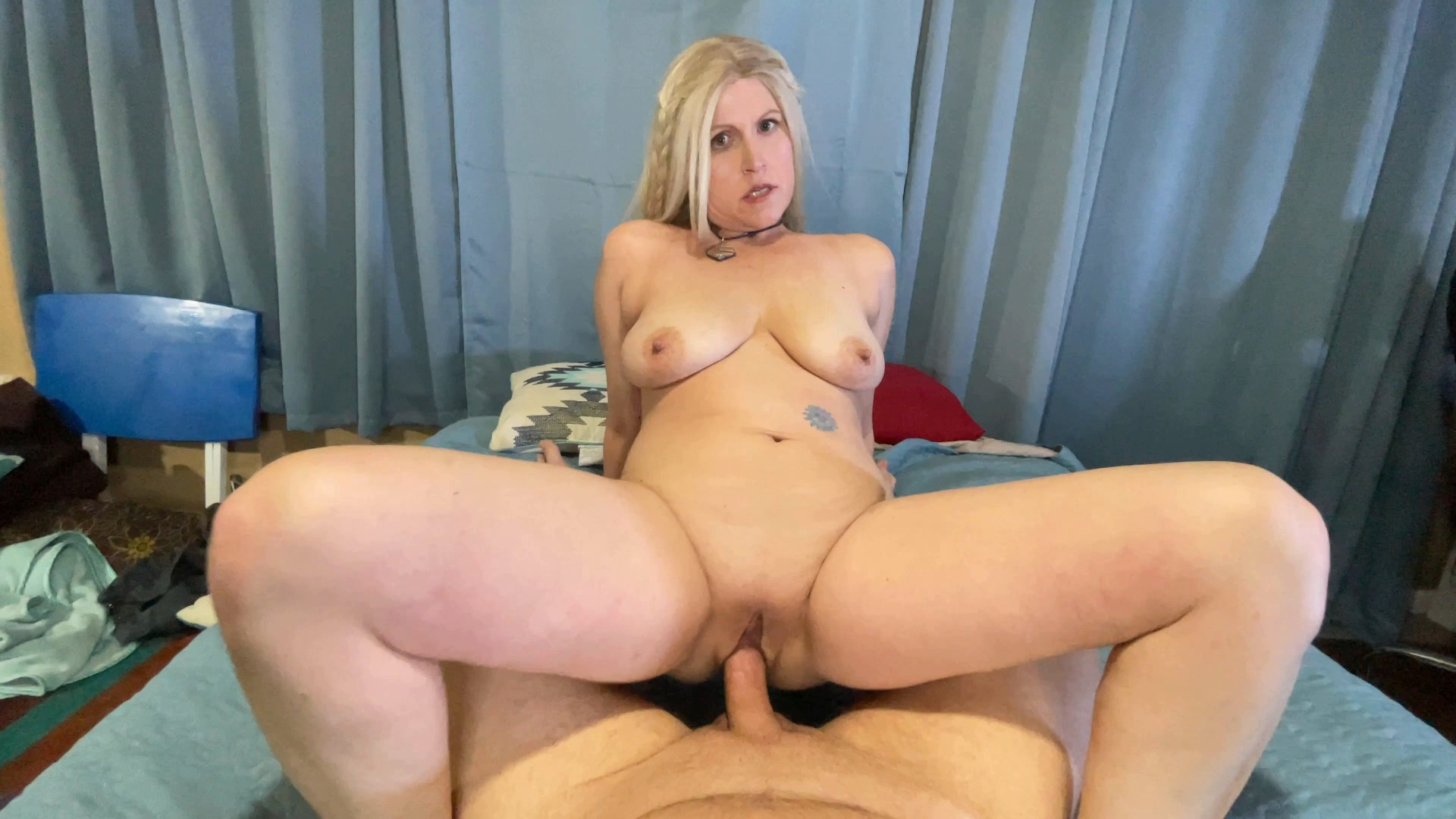 TabithaXXX - Horny Mom Rides Virgin Son Hard